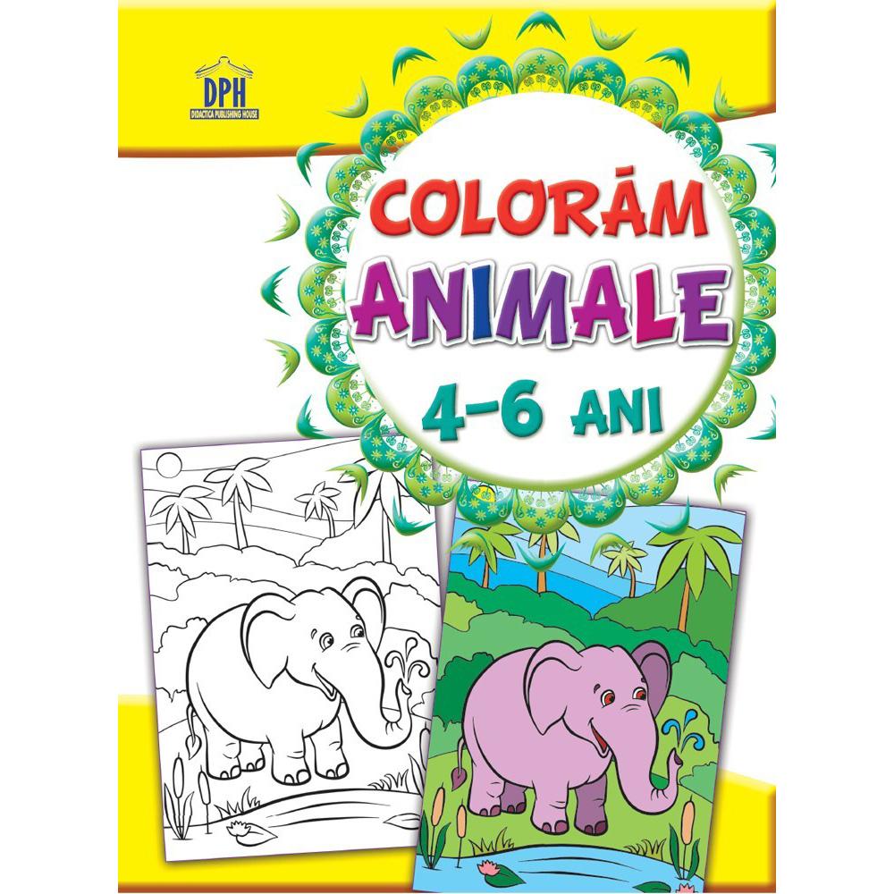Carte Editura DPH, Coloram animale 4-6 ani imagine 2021