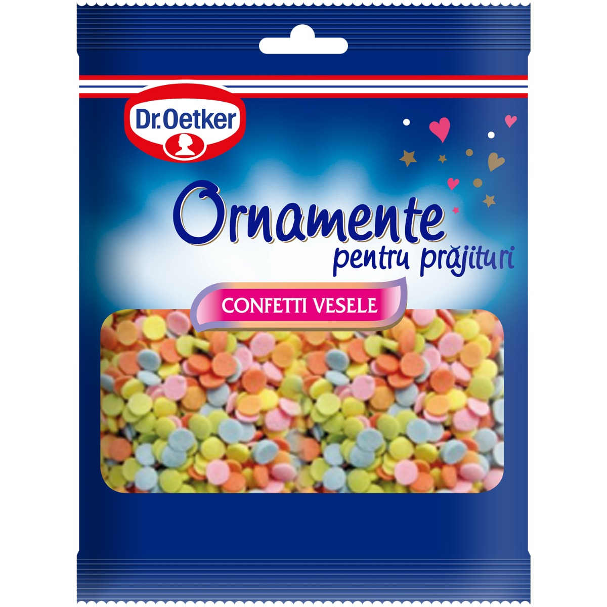 Ornamente pentru prajituri Dr Oetker, Confetti vesele, 30 g imagine
