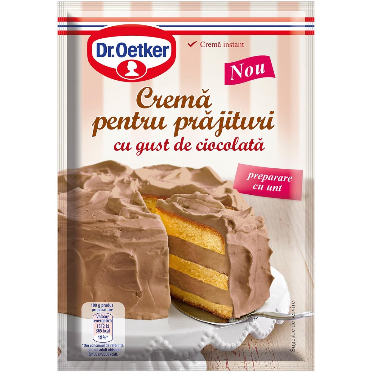 Crema pentru prajitura cu gust de ciocolata Dr Oetker, 155 g imagine