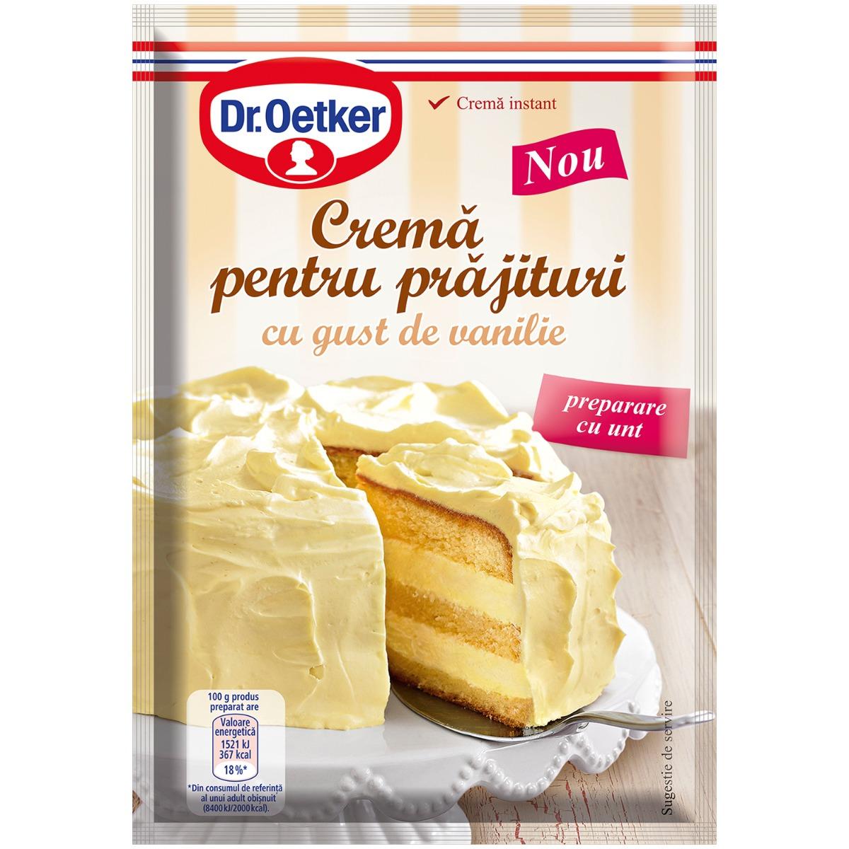 Crema pentru prajitura cu gust de vanilie Dr Oetker, 140 g imagine