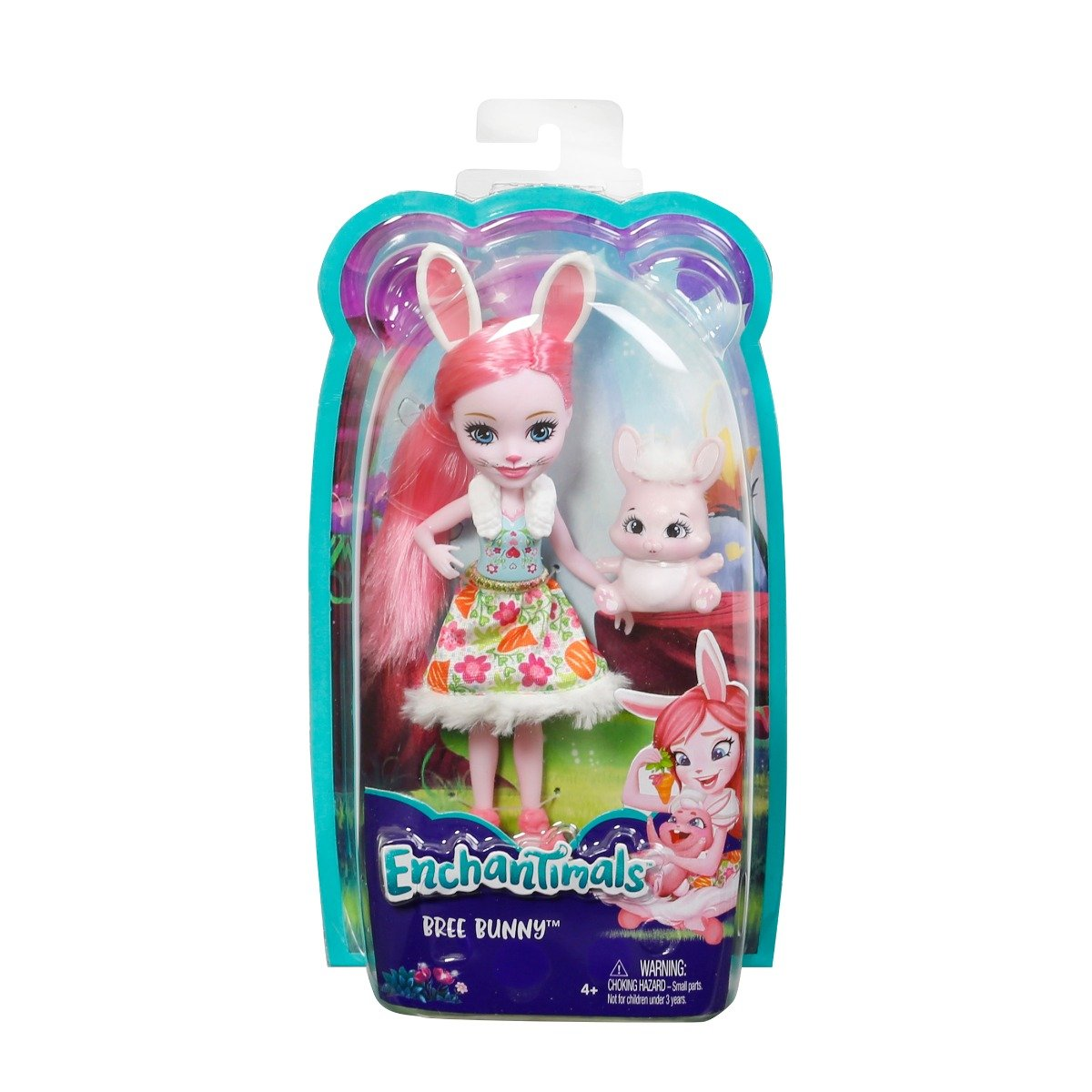 set papusa cu animalut mattel enchantimals