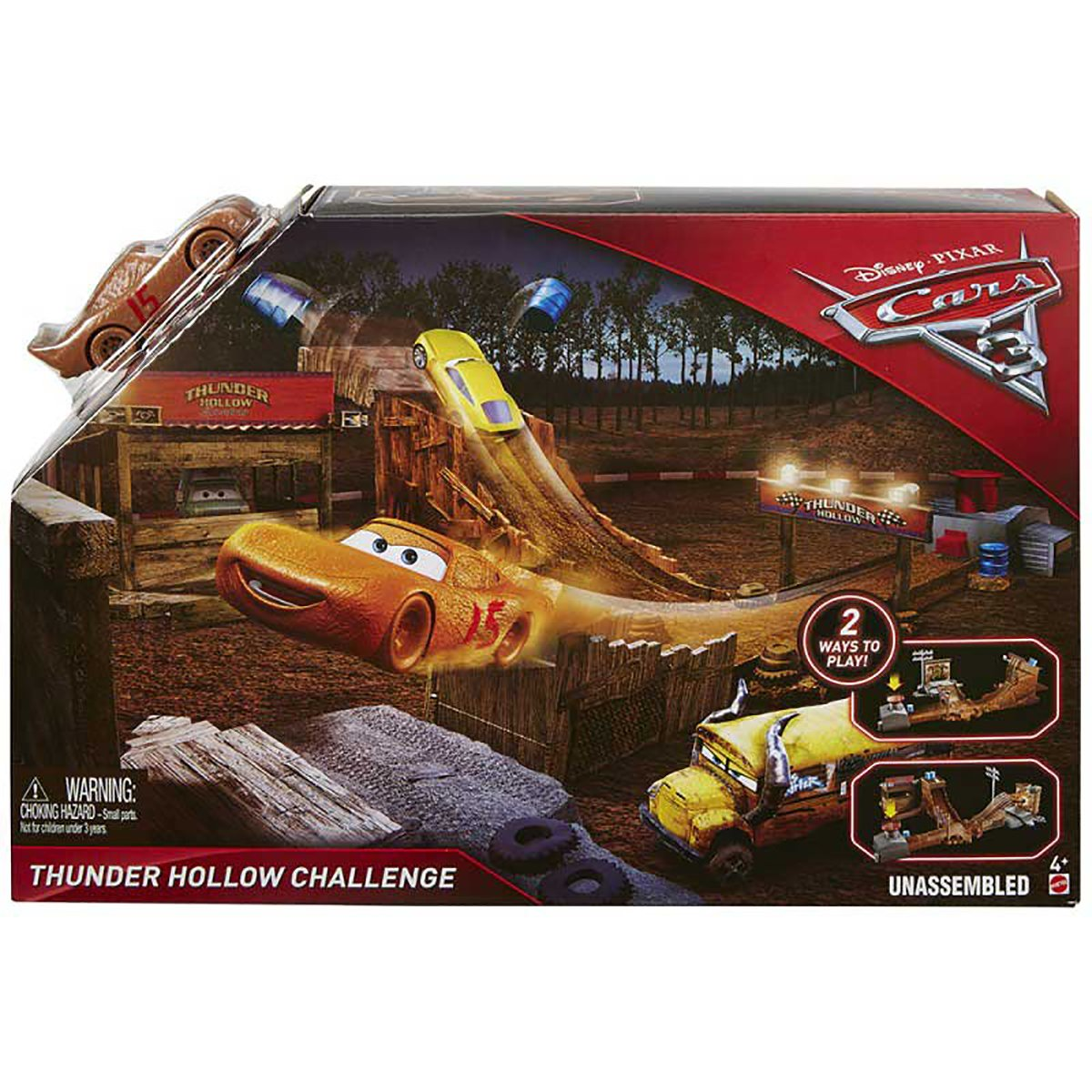 Set de joaca Disney Cars, Thunder Hollow Challenge DYB00