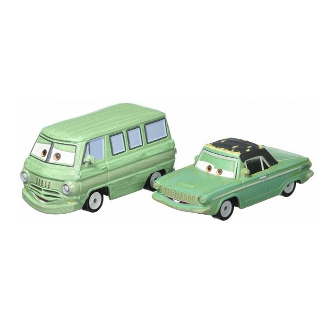 Set doua masinute Disney Cars 3, Dusty Rust-Eze, Rusty Rust-Eze, FJJ01