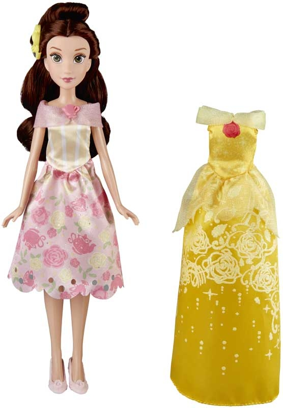 Papusa Belle fashion, cu rochita extra, Disney Princess