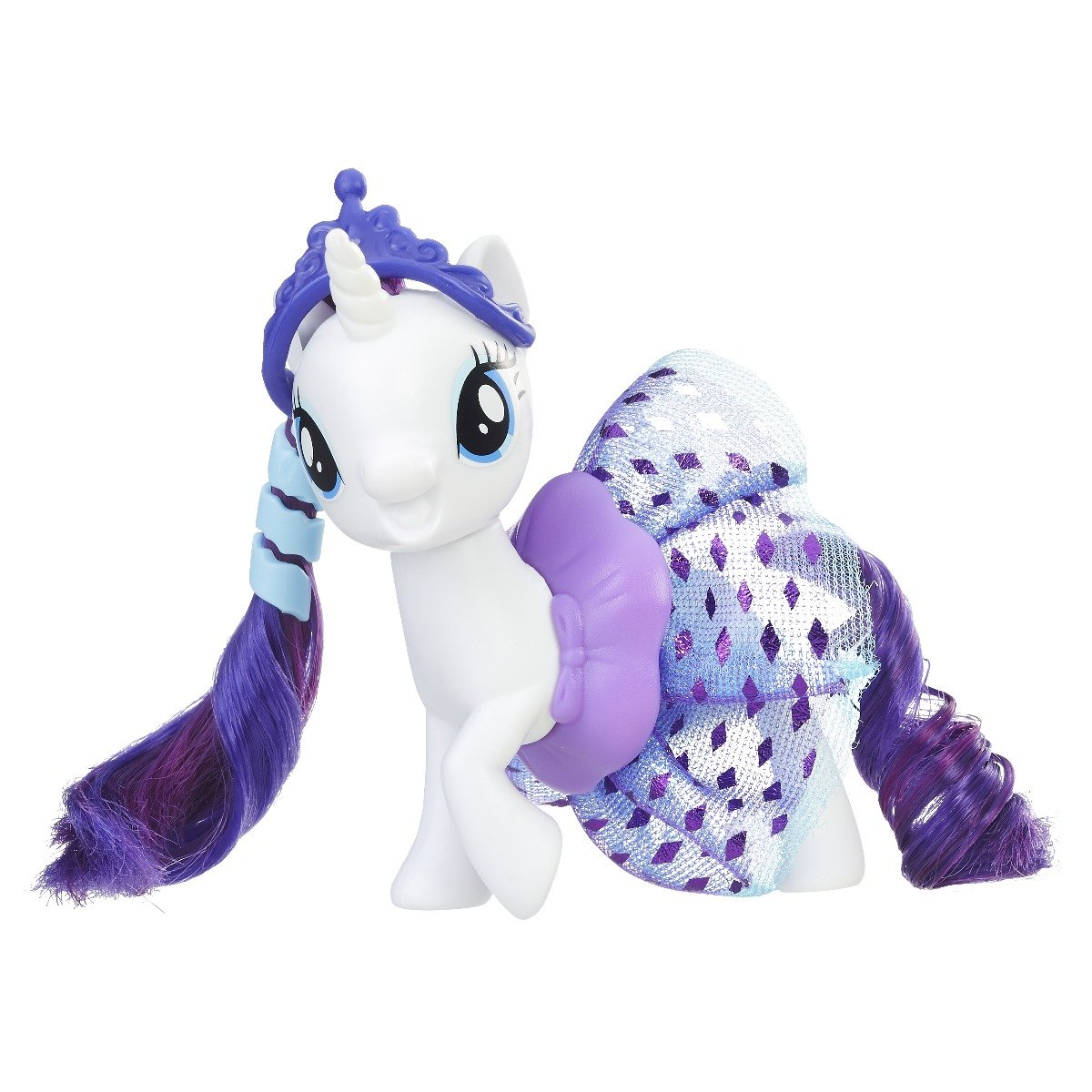 figurina my little pony the movie - rarity cu fustita stralucitoare