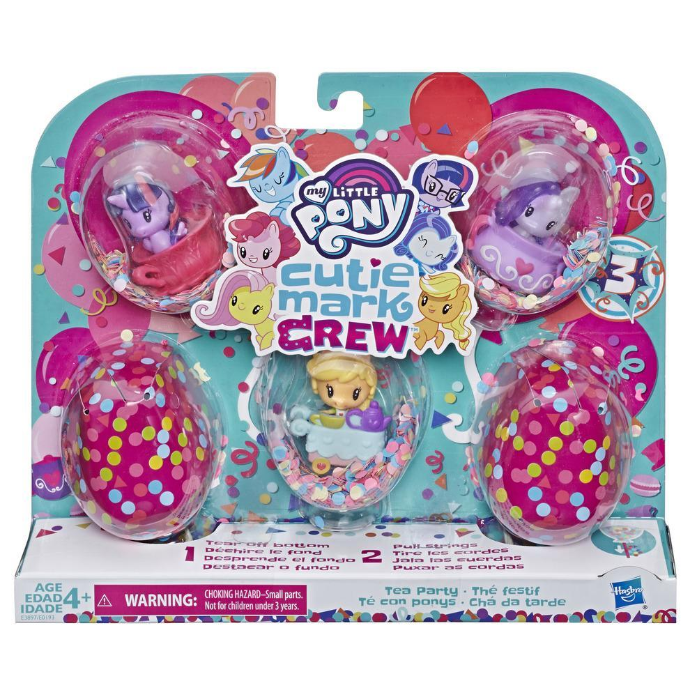 Set mini figurine My Little Pony, Cutie Mark Crew - Tea Party, E3897