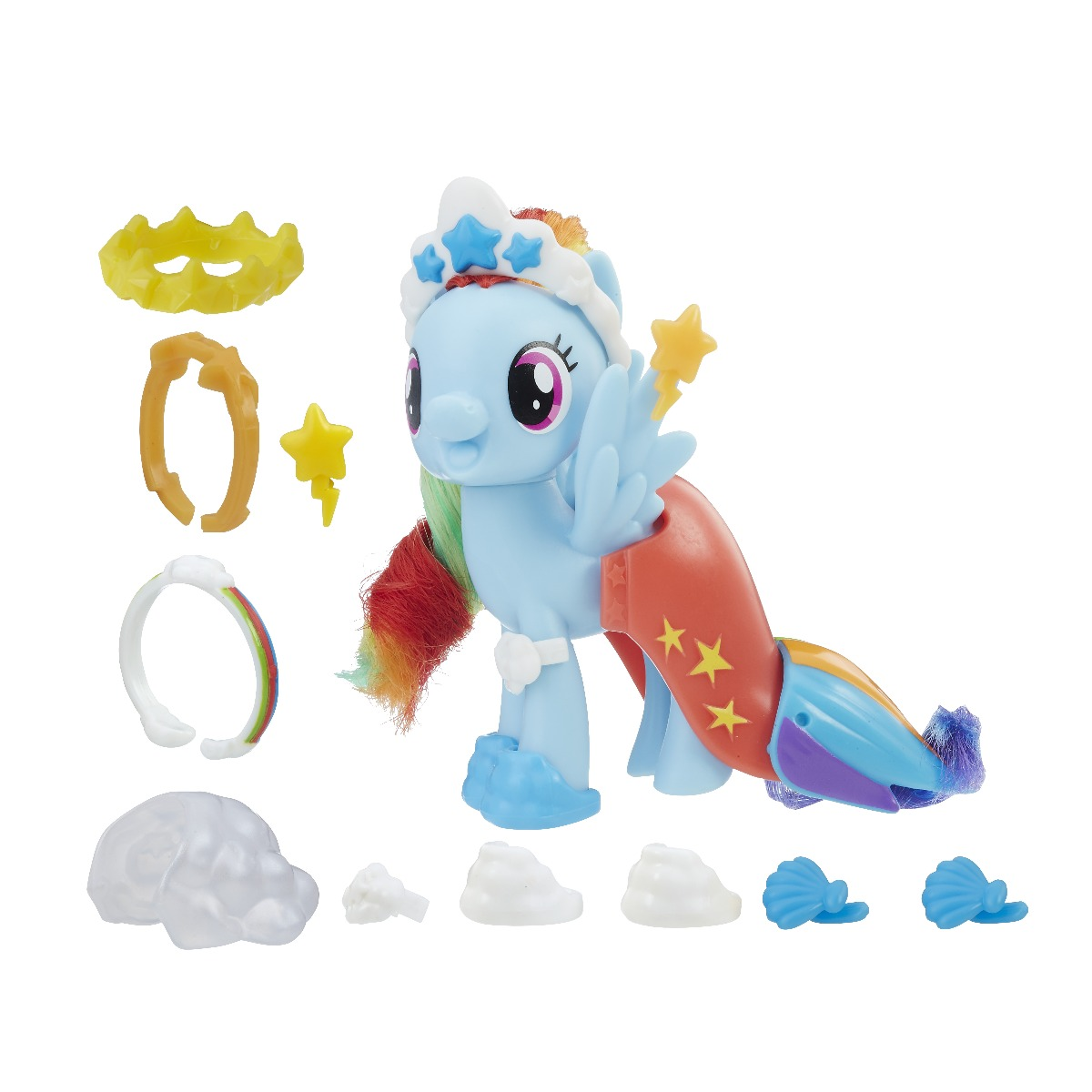 figurina cu accesorii fashions my little pony the movie - rainbow dash