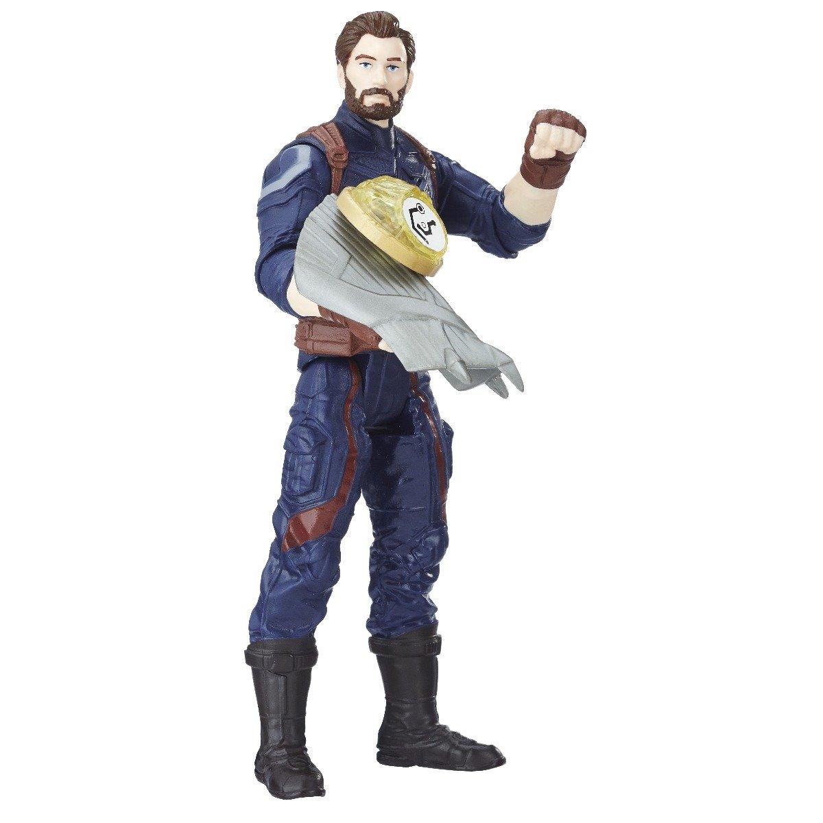 figurina avengers infinity war, captain america, 15 cm