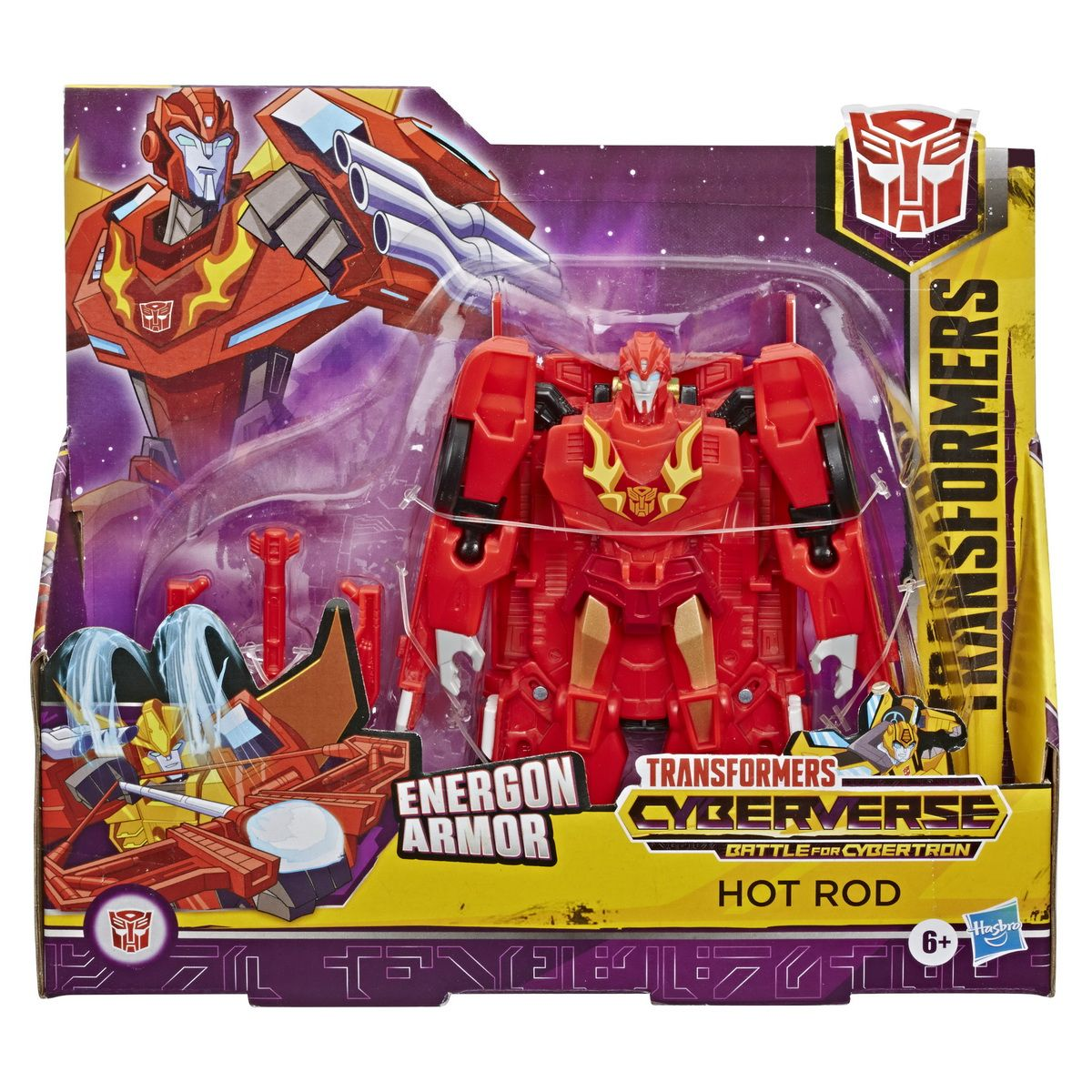 Figurina Transformers Cyberverse Action Attacker Ultra, Hot Rod E7107
