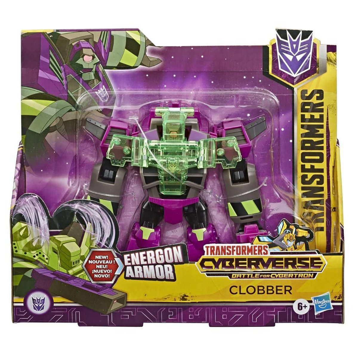 Figurina Transformers Cyberverse Action Attacker Ultra, Clobber E7108