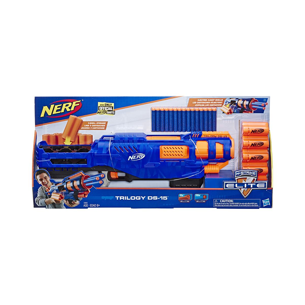 Blaster Nerf Elite Triology DS 15