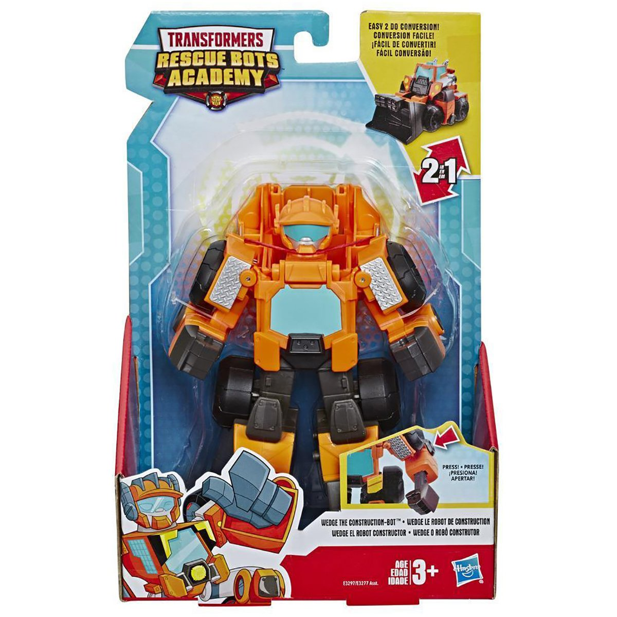 Figurina Transformers Rescue Bots Academy, Wedge The Construction, E3297