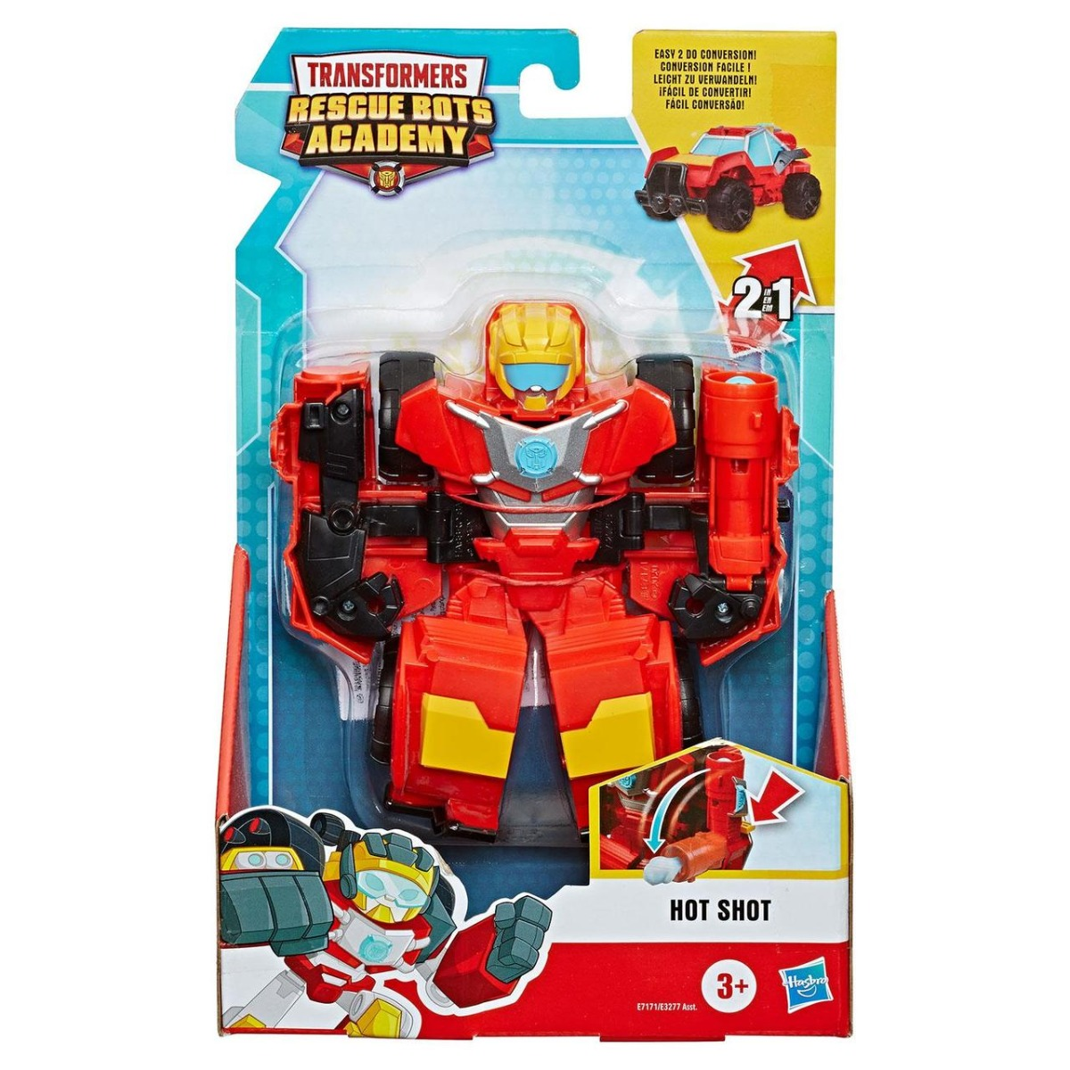 Figurina Transformers Rescue Bots Academy, Hot Shot, E7171
