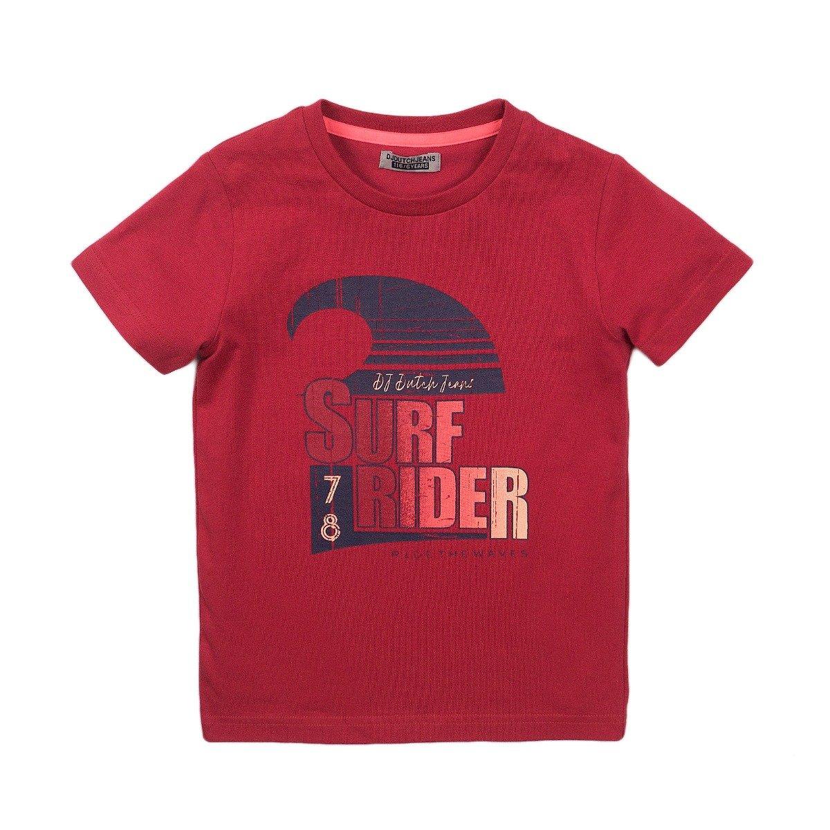 Tricou cu maneca scurta si imprimeu Dj Dutchjeans Surf Rider imagine
