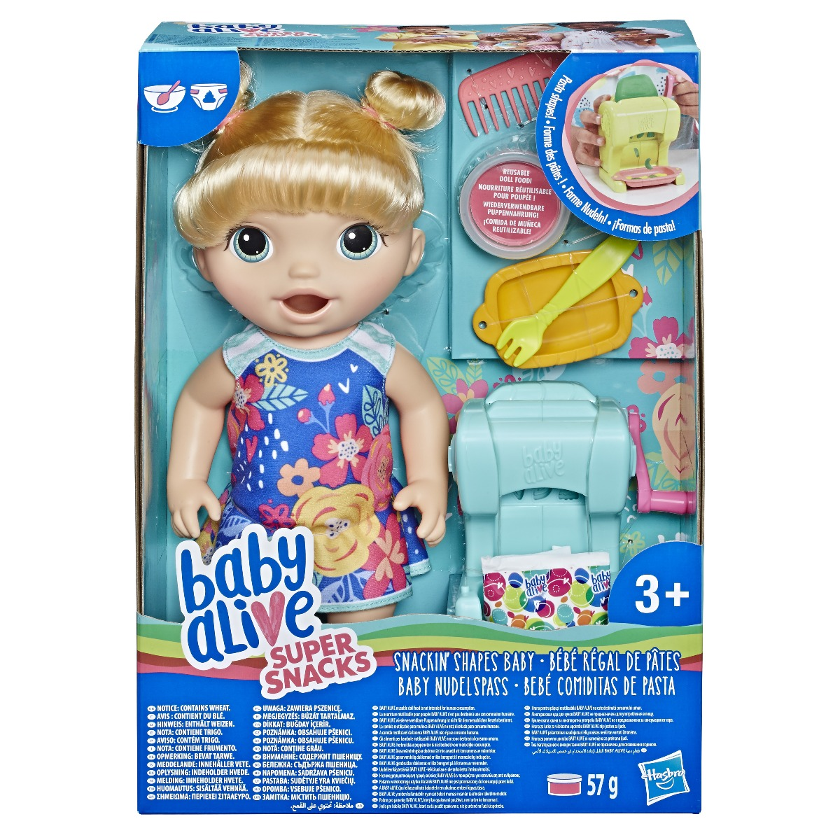 Papusa fetita Baby Alive - Snackin Shapes