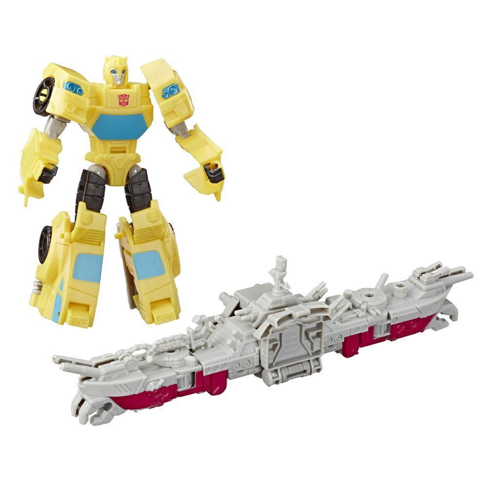 Figurina Transformers Cyberverse Spark Armor, Bumblebee, Ocean Storm, E4329