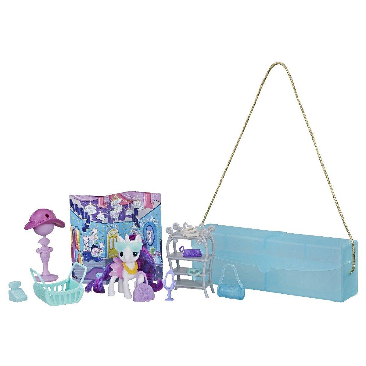 Set Hasbro My Little Pony, poseta cu ponei si accesorii, Rarity