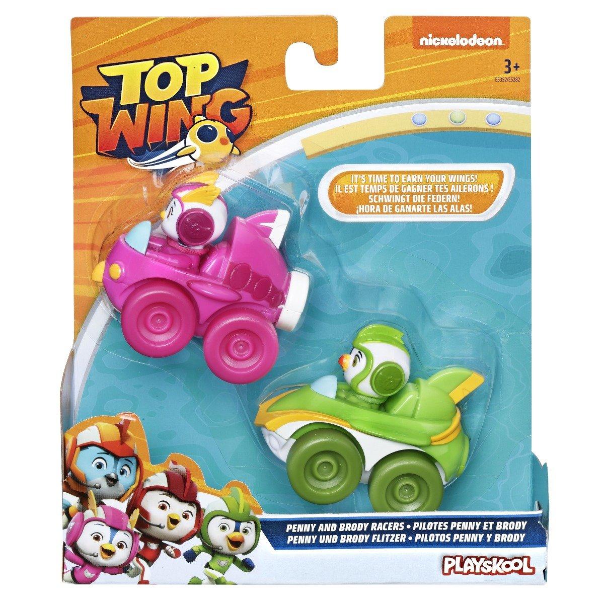 Set 2 figurine cu vehicul Top Wing, Penny si Brody (E5352)