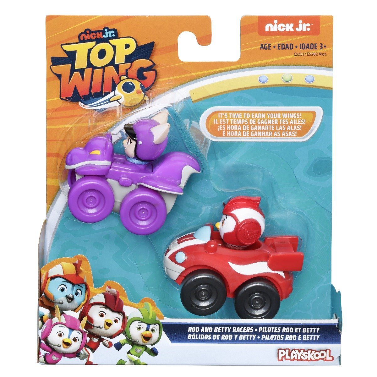 Set 2 figurine cu vehicul Top Wing, Rod si Betty (E5351)