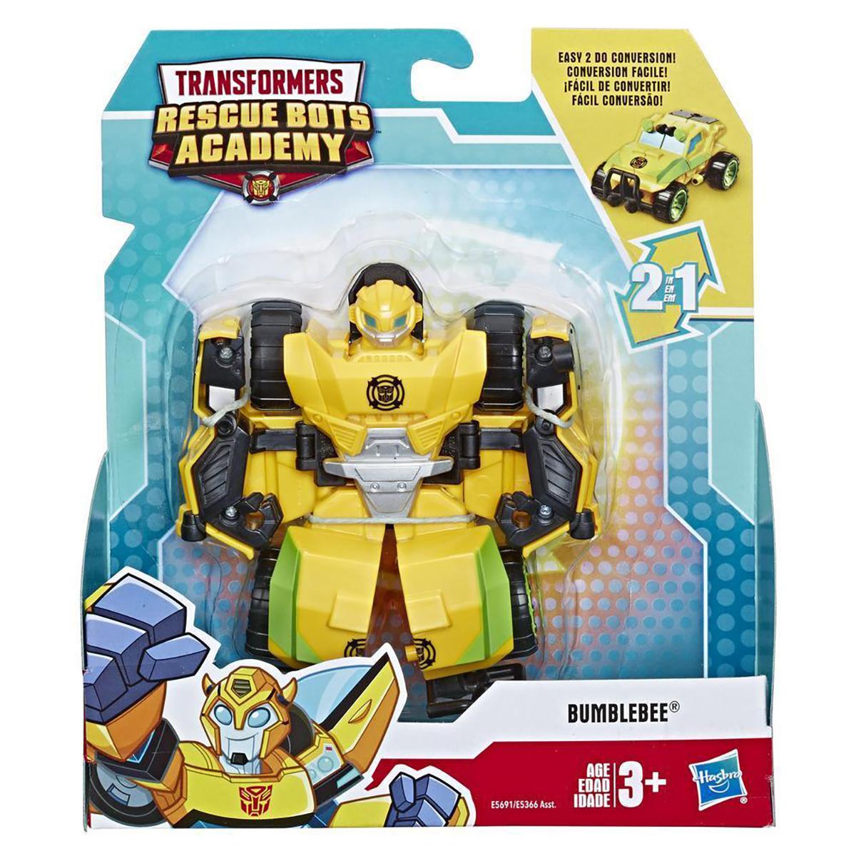 Figurina Transformers Rescue Bots Academy, Bumblebee Da Rock Crawler, E5691