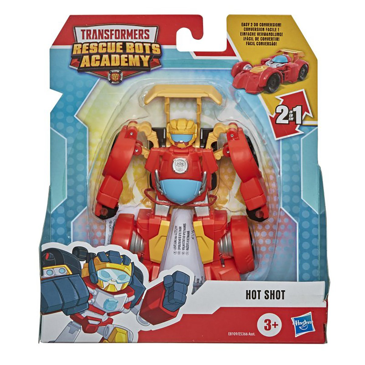 Figurina Transformers Rescue Bots Academy, Hot Shot, E8109
