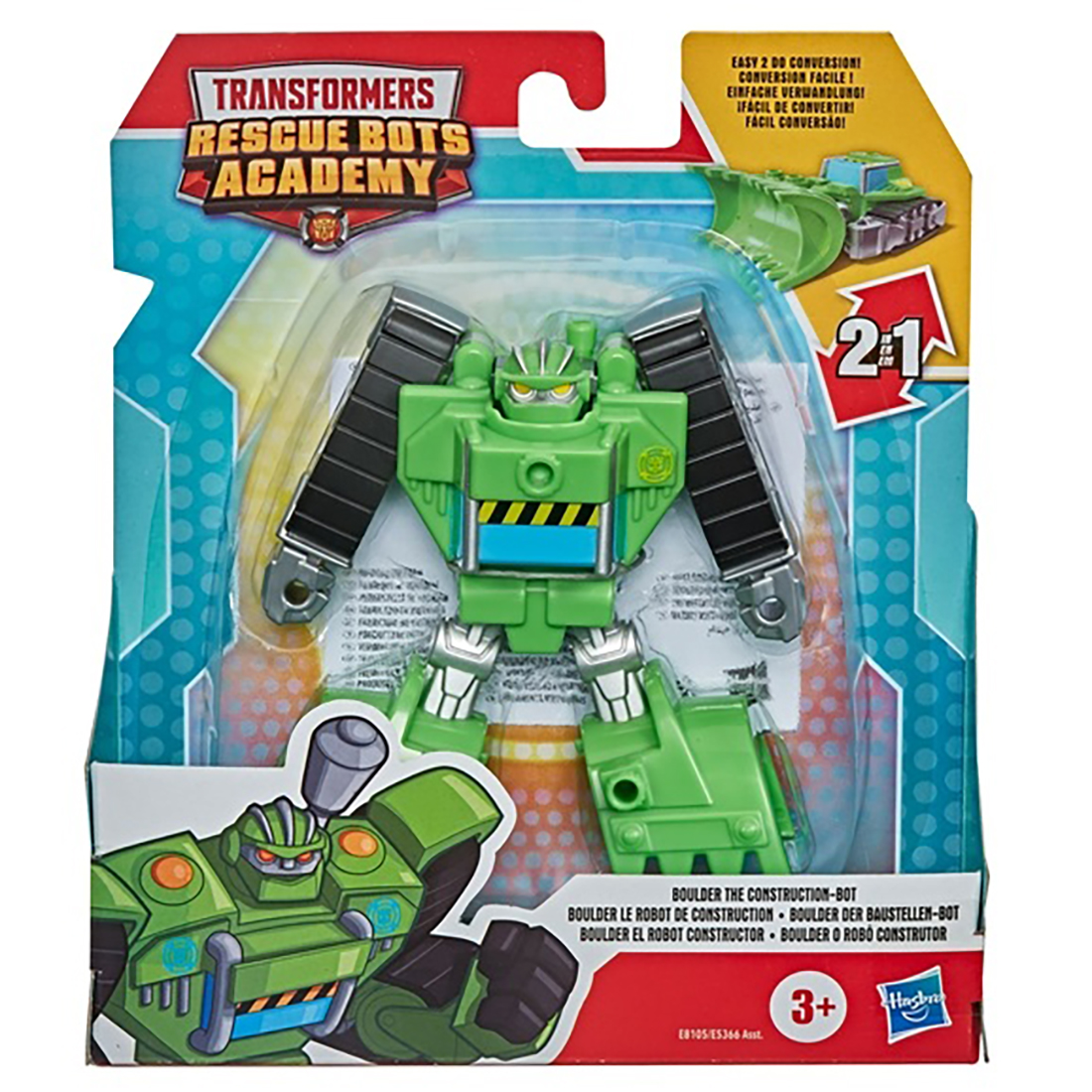Figurina Transformers Rescue Bots Academy, Boulder to Bulldozer, E8105