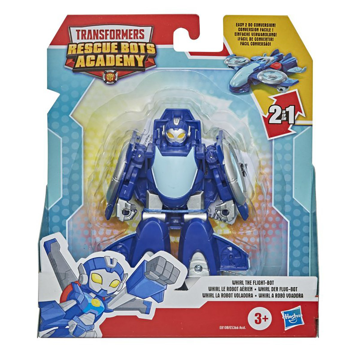 Figurina Transformers Rescue Bots Academy, Whirl The Flight, E8108