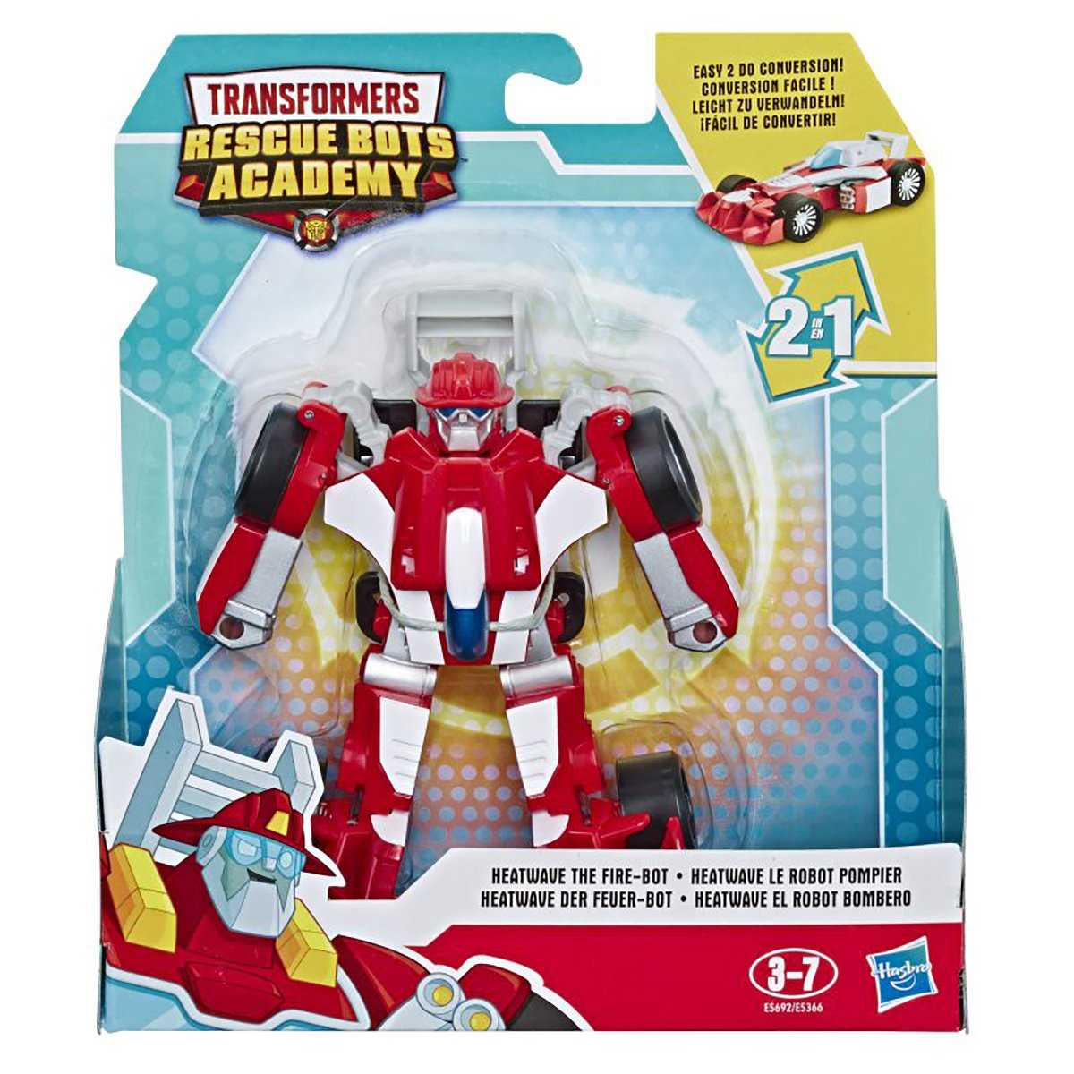 Figurina Transformers Rescue Bots Academy, Heatwave The Fire, E5692