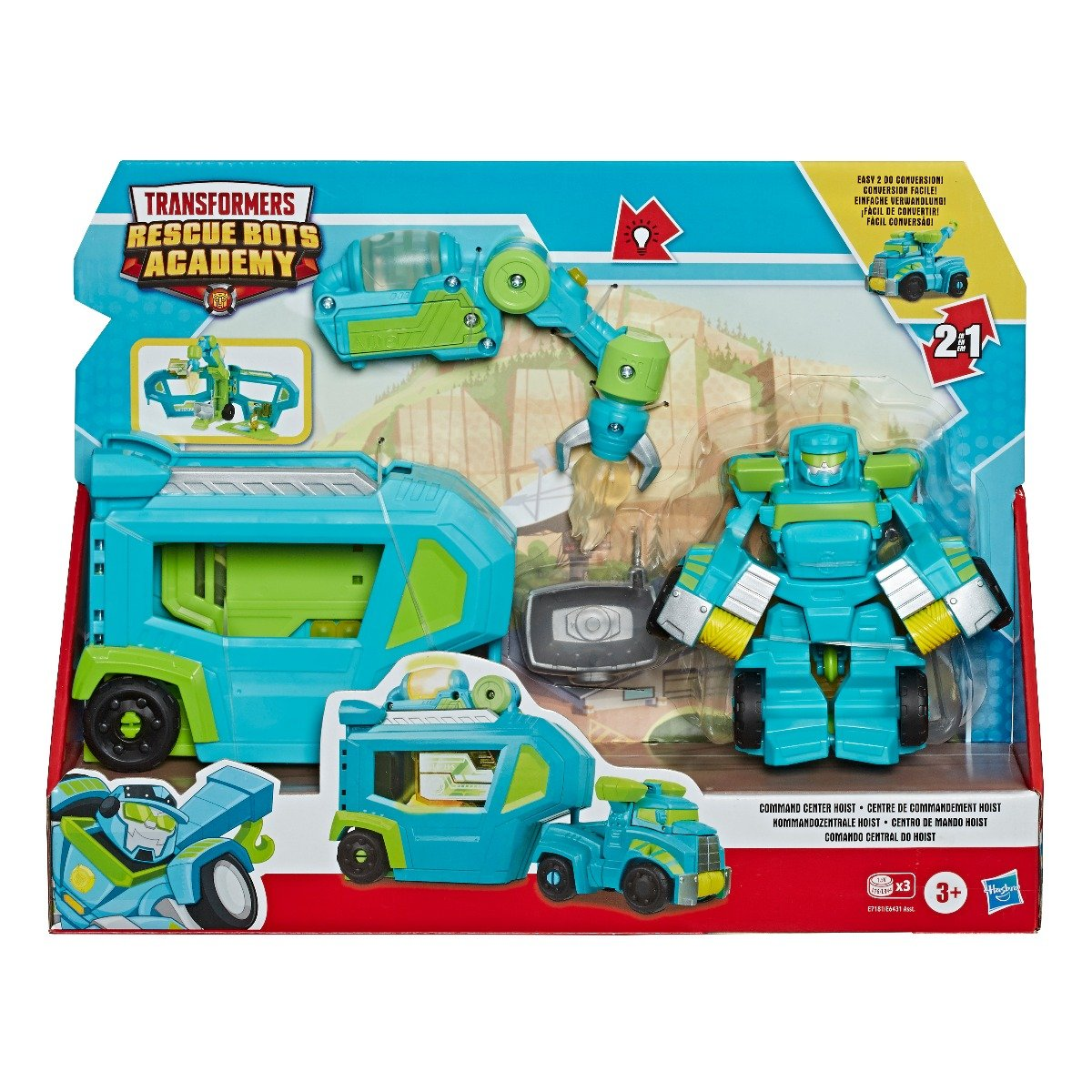 Set Transformers Figurina cu vehicul Rescue Bots Academy, Hoist Rescue Trailer, E7181