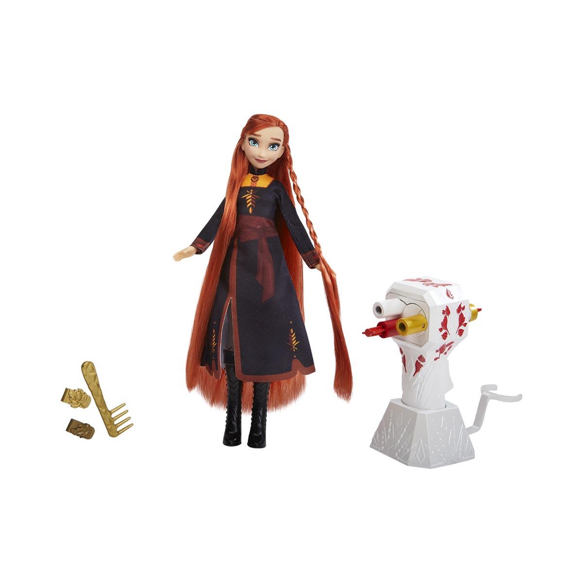 Papusa Anna cu accesorii de coafat Disney Frozen 2