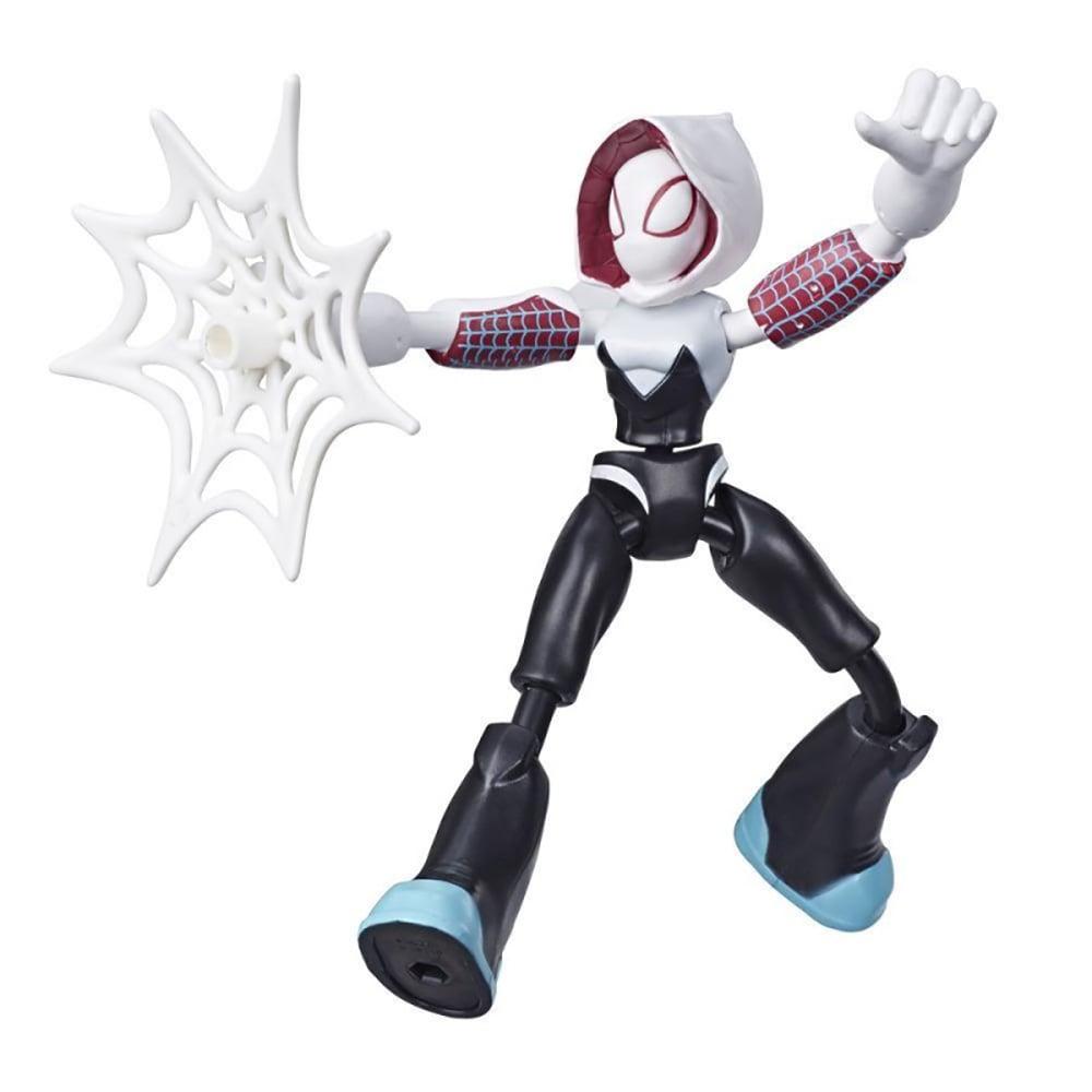 Figurina flexibila Spiderman Bend and Flex, Ghost Spider E7688 imagine 2021