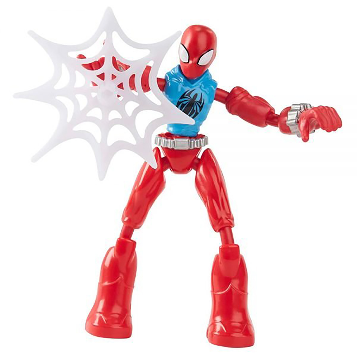 Figurina flexibila Spiderman Bend and Flex, Scarlet Spider F2297