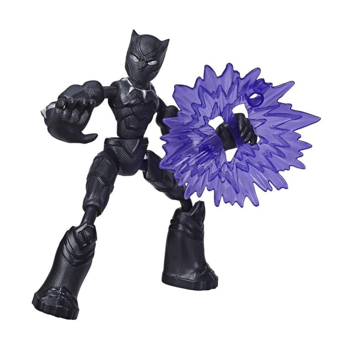 Figurina flexibila Avengers Bend and Flex, Black Panther (E7868) imagine