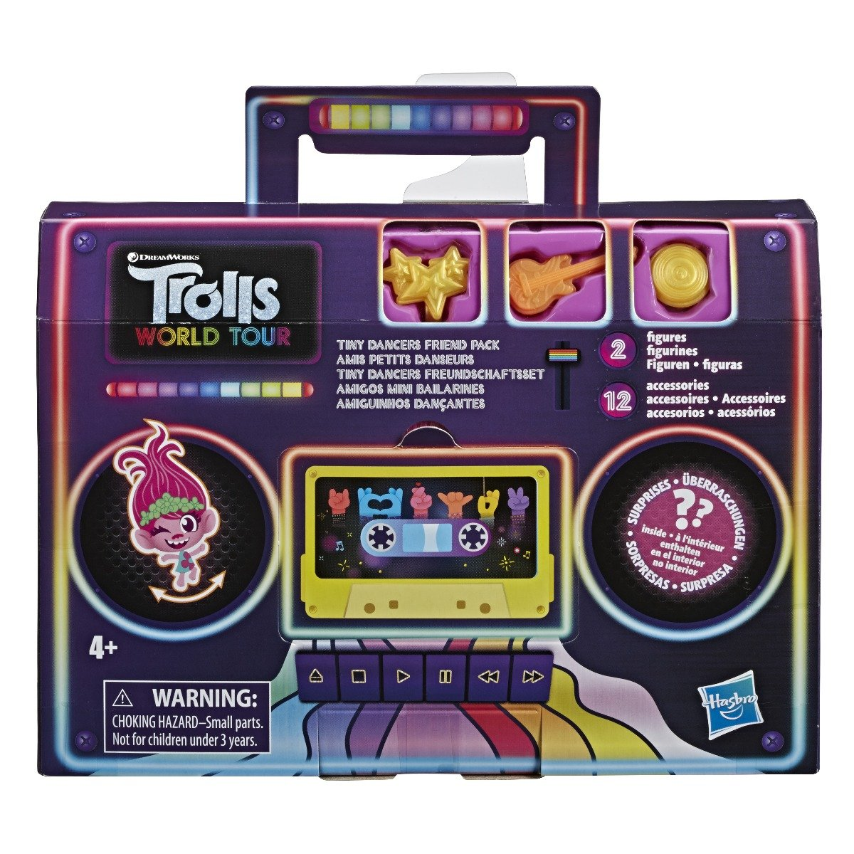 Set figurina si accesorii surpriza Trolls World Tour, Friend Pack