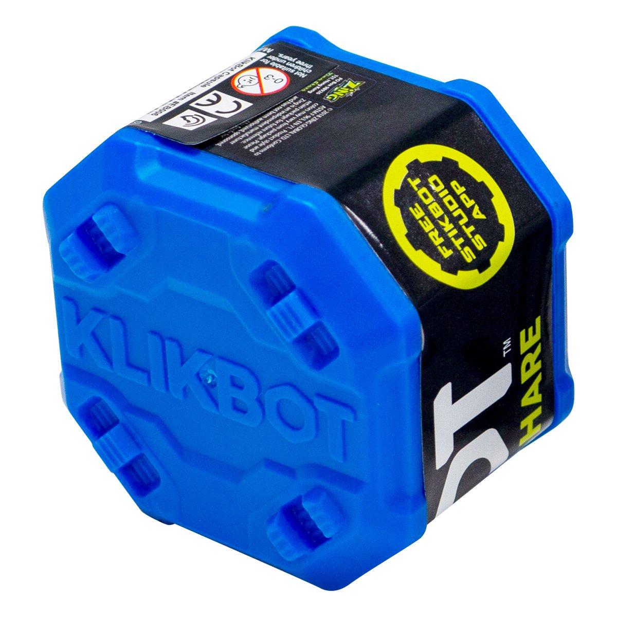 Figurina Surpriza robot articulat transformabil in capsula Klikbot, Blue