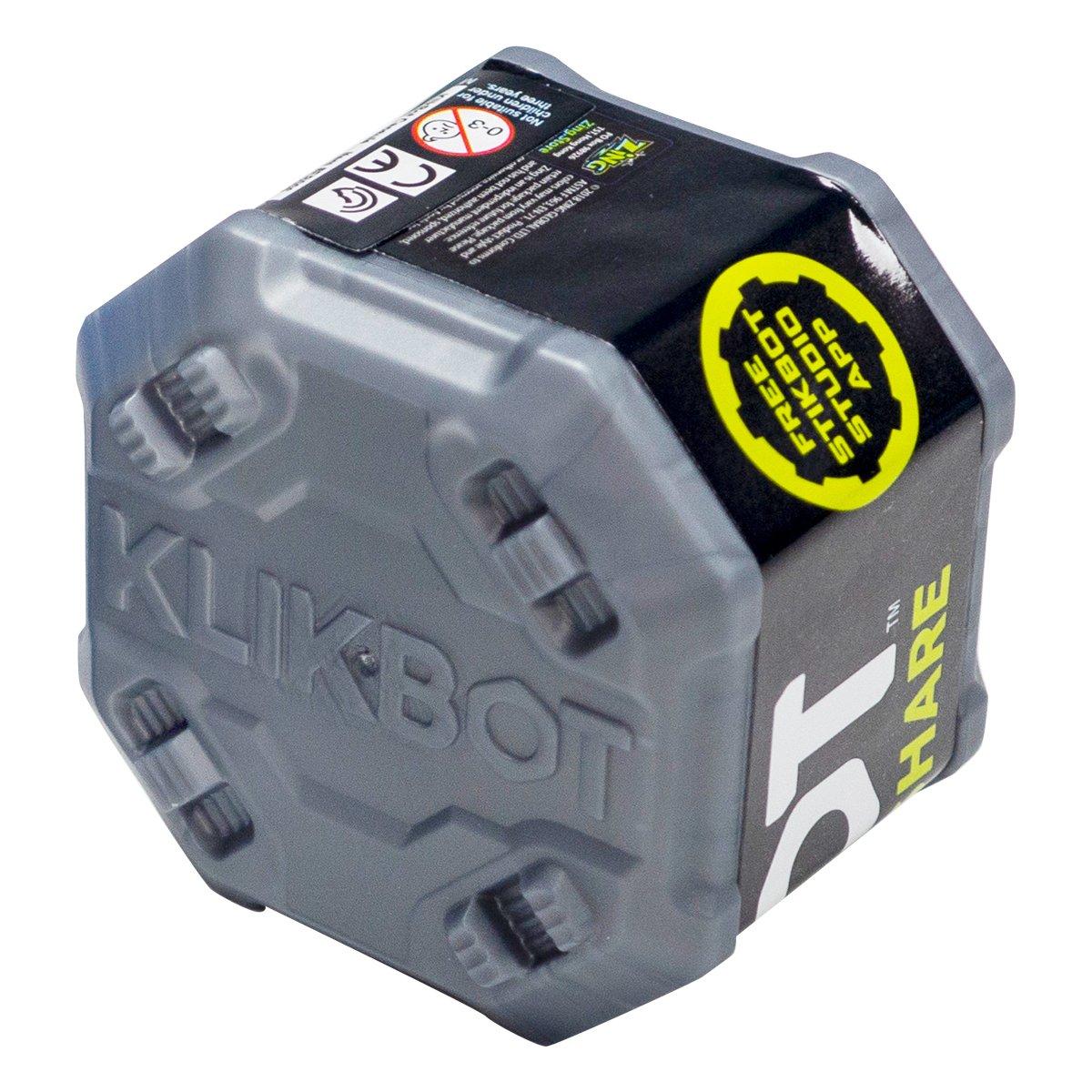 Figurina Surpriza robot articulat transformabil in capsula Klikbot, Grey