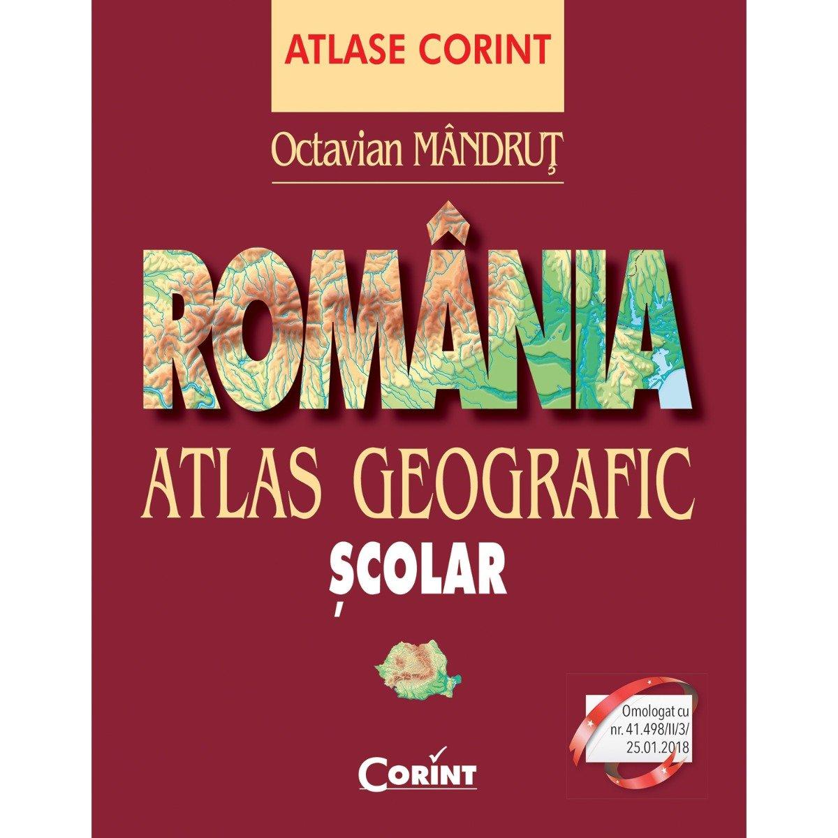 Carte Editura Corint, Atlas geografic Romania nou, Octavian Mandrut