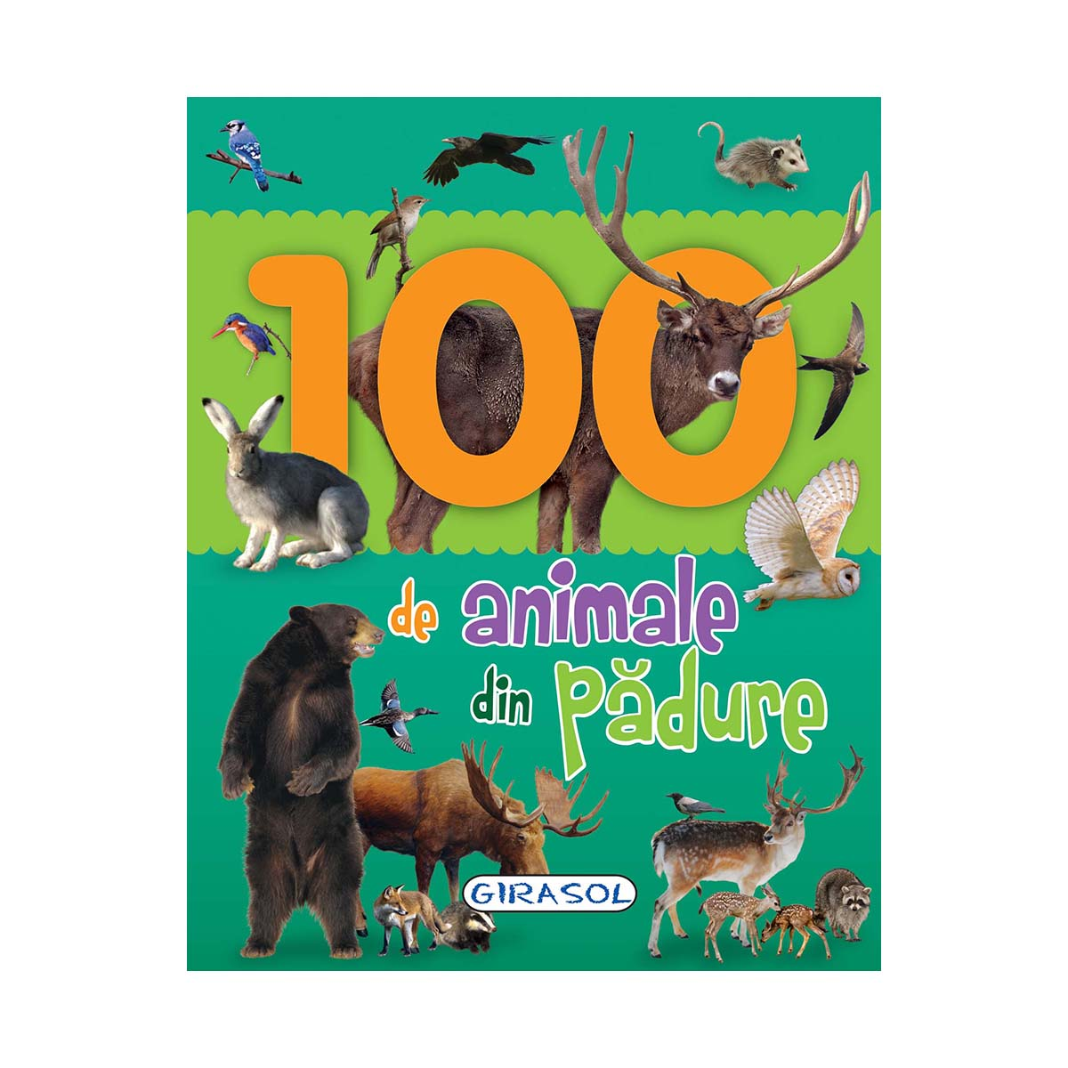 Carte Editura Girasol, 100 de animale din padure