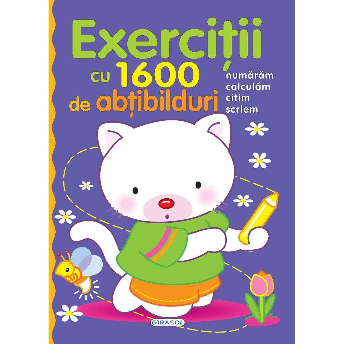 Carte editura Girasol, Exercitii cu 1600 de abtibilduri
