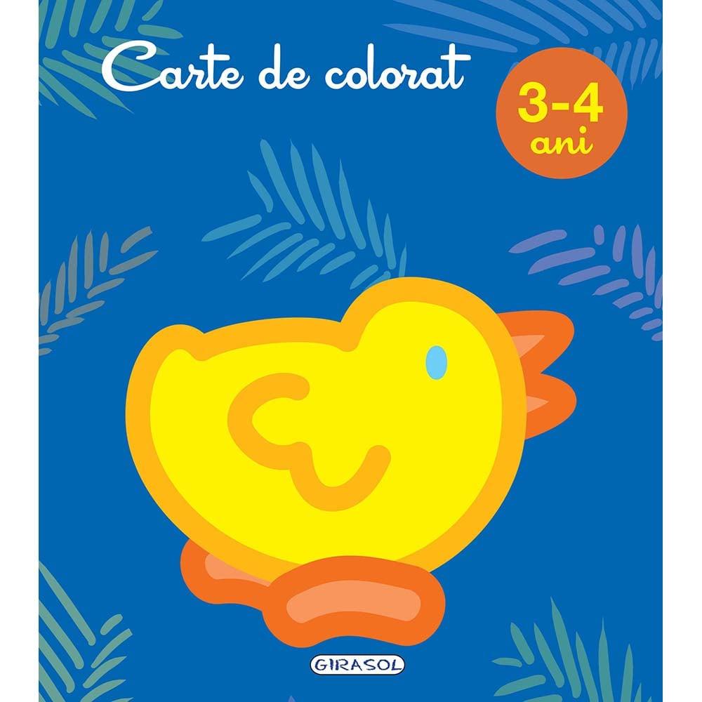 Carte Editura Girasol, Carte de colorat 3-4 ani