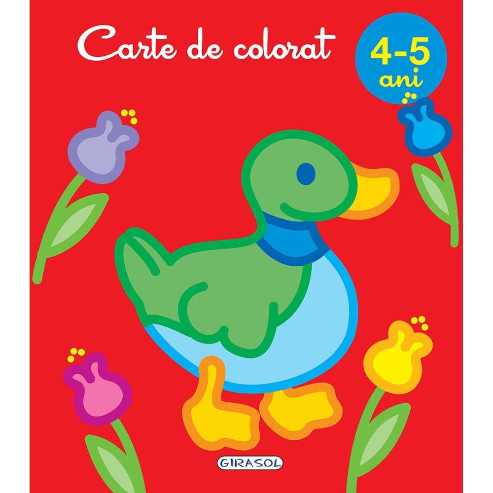 Carte Editura Girasol, Carte de colorat 4-5 ani