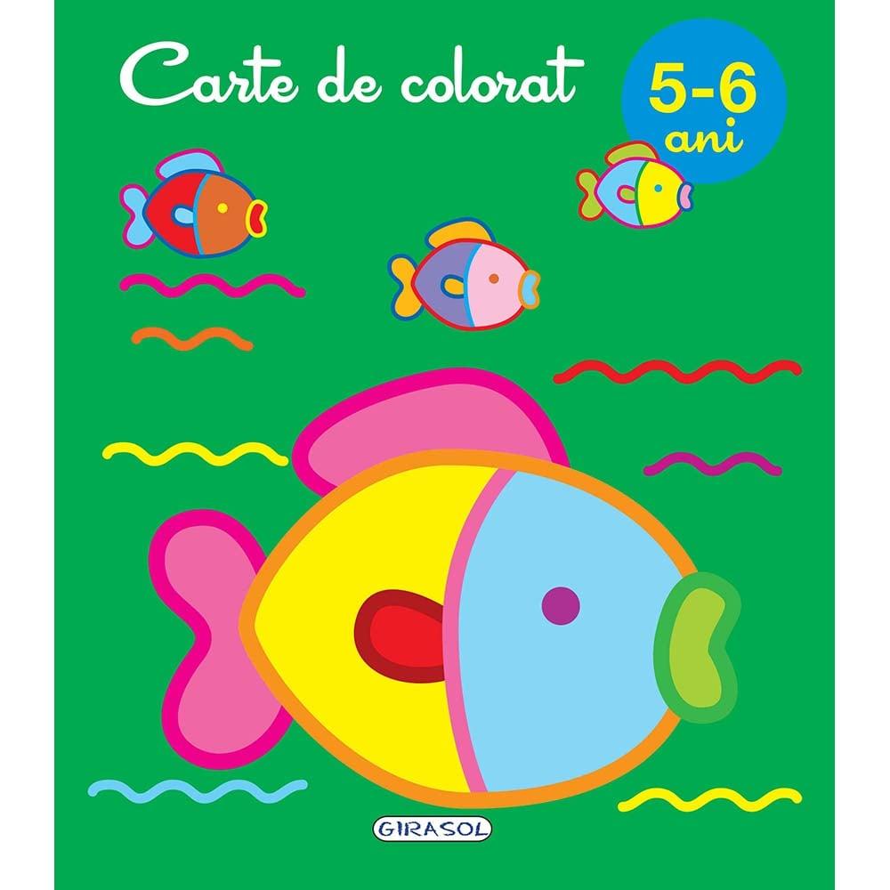 Carte Editura Girasol, Carte de colorat 5-6 ani