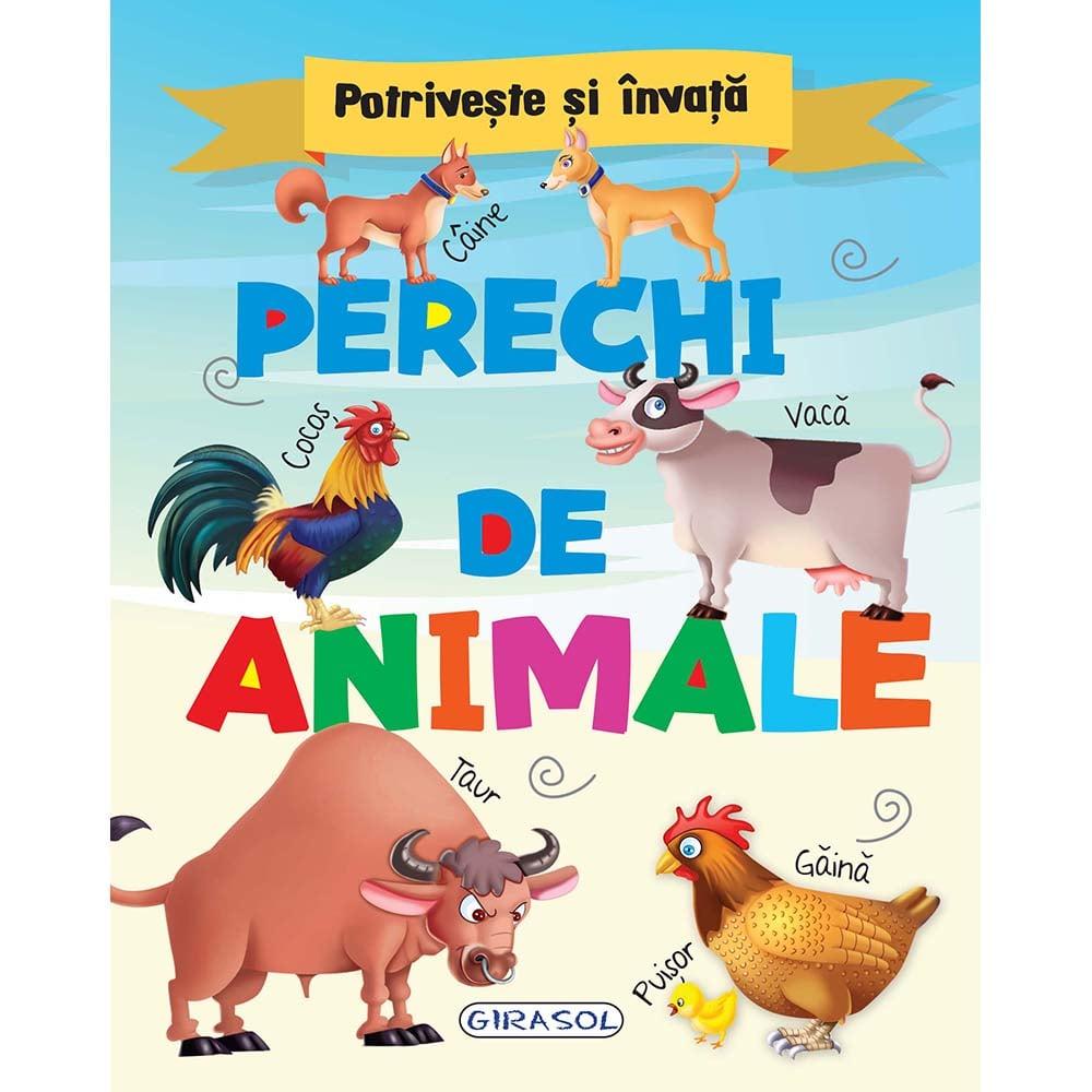 Carte Editura Girasol, Potriveste si invata - Perechi de animale
