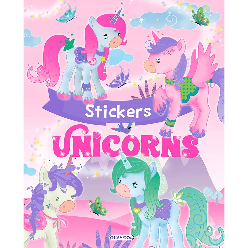 Carte Editura Girasol, Unicorns Stickers, Roz