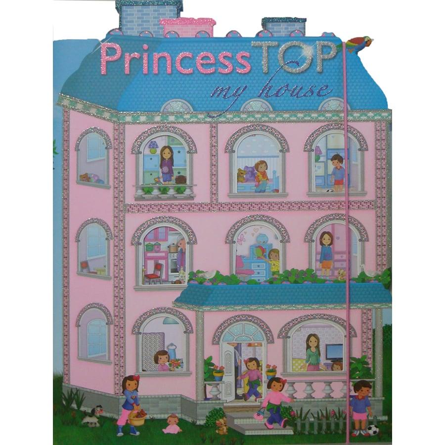 Carte cu stickere Girasol, Princess TOP - My house, albastru