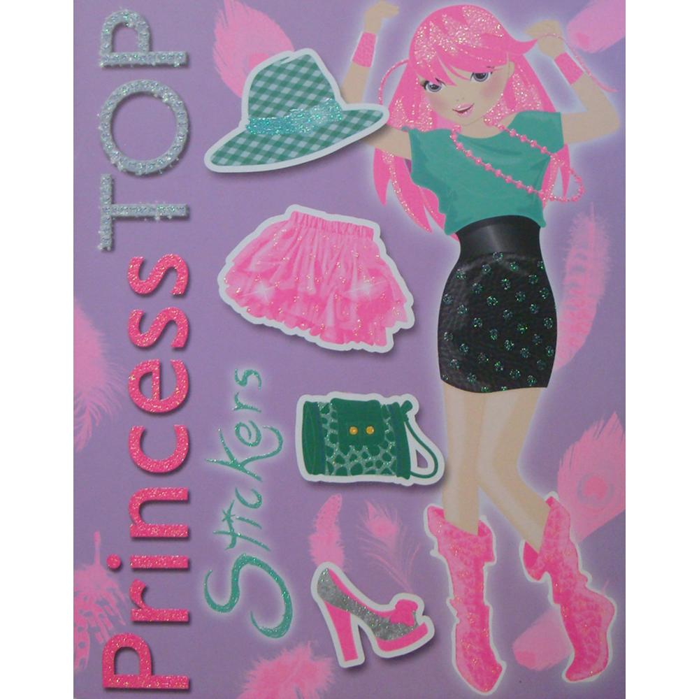 Carte Editura Girasol, Princess TOP Stickers, Violet