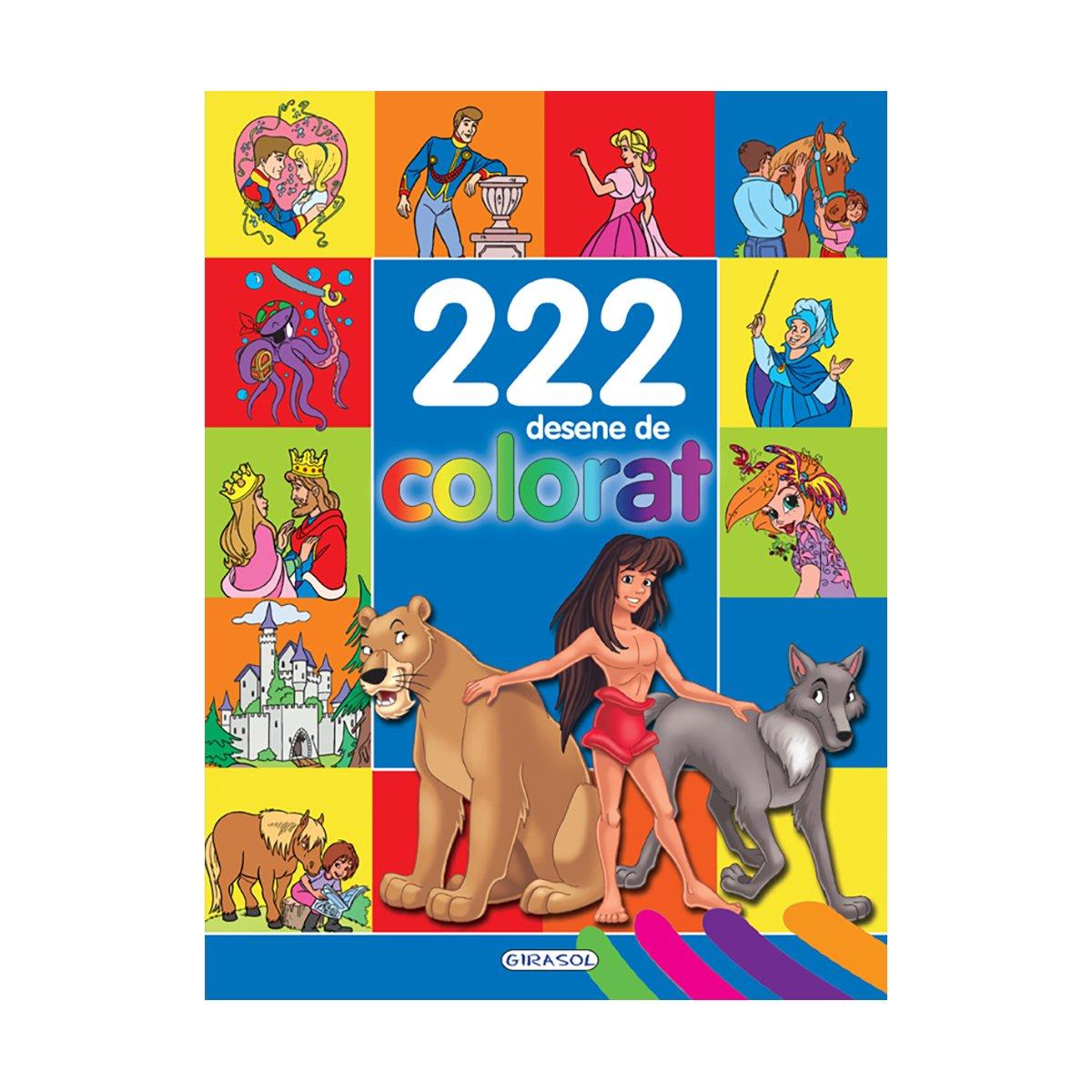 Carte Editura Girasol, 222 desene de colorat