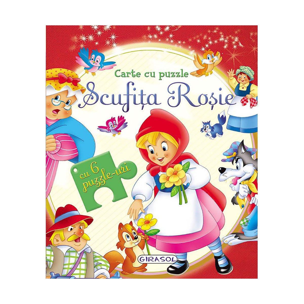 Carte cu puzzle Girasol, Scufita Rosie