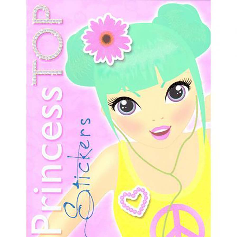 Carte Editura Girasol, Princess TOP Stickers, Galben