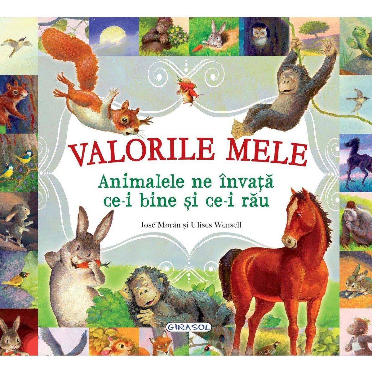 Carte Girasol - Valorile Mele - Animalele ne invata ce-i bine si ce-i rau